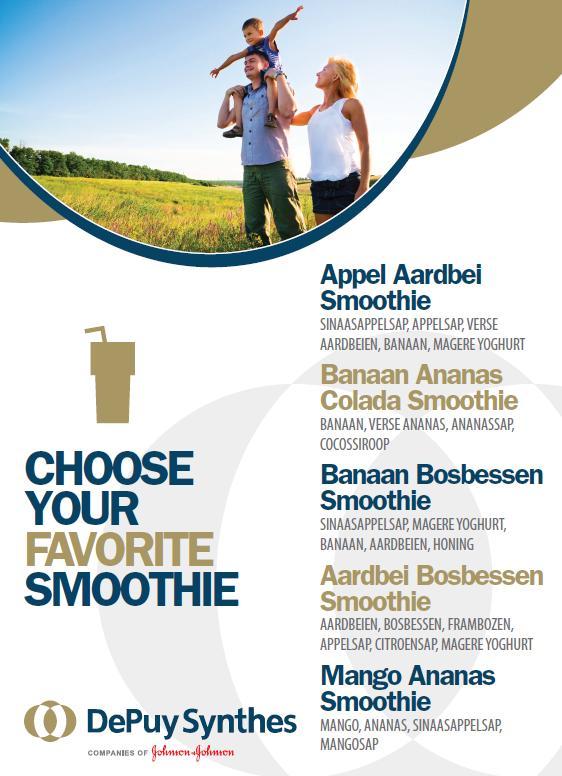 Persoonlijke smoothiekaart