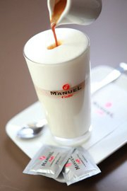 Latte macchiato en diverse specials