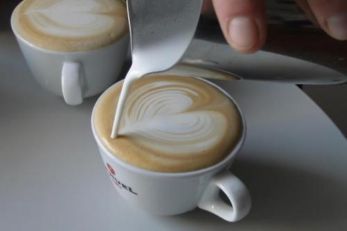 Koffie met latte art