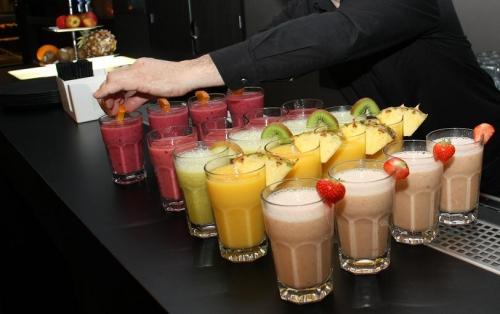 Aanvullende catering waaronder cocktails en smoothies