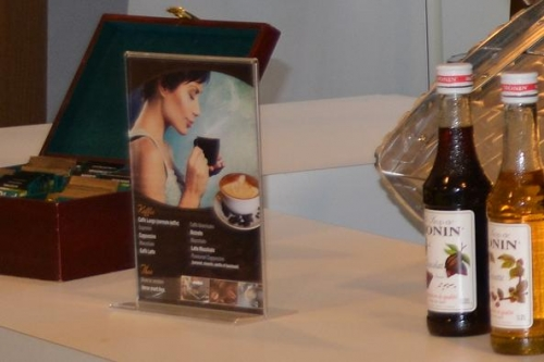Menukaart in display