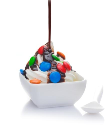 Frozen yoghurt ijs op uw beurs stand